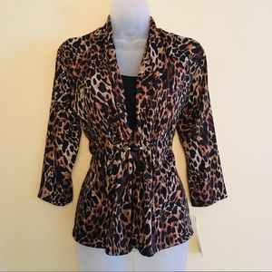 NOTATIONS Leopard Print Top CN0010